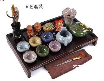 【格倫雅】^冰裂釉茶具實木茶盤套裝 電水壺 茶寵茶壺杯子紫砂茶托  送朋21414[D
