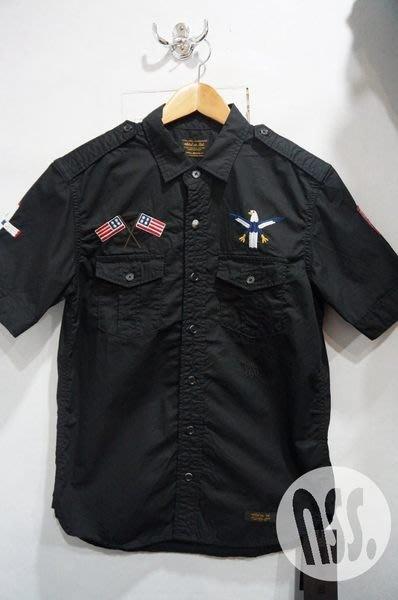 特價【NSS】 NEIGHBORHOOD 13 OFFICER / C-SHIRT SS 刺繡 黑S 短袖襯衫
