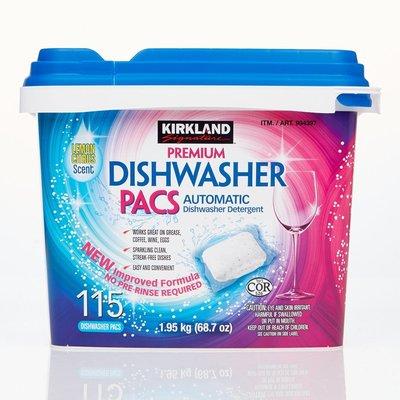 costco代購 #994397 Kirkland Signature 科克蘭 洗碗機專用清潔錠 115入 *