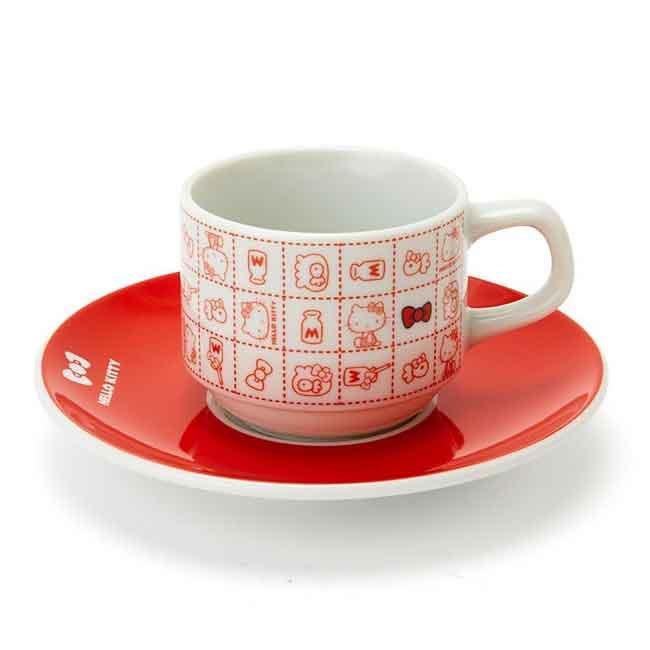 Hello Kitty 咖啡杯盤組 三麗鷗 餐具 日本製
