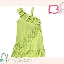 【B& G童裝】正品美國進口GYMBOREE荷葉裙襬綠色斜肩背心裙5,6yrs