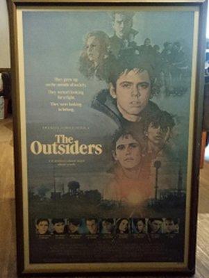 小教父-The Outsiders(1983)已裱框原版電影海報(框8成新)