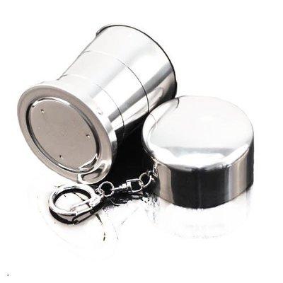 旅遊用品 可折疊攜帶(中杯)不鏽鋼杯C...