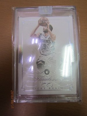 網拍讀賣~Ricky Rubio~超級低限量手提箱鑽石卡/20~FLAWLESS~含原裝磁鐵夾~共1張~3500元~