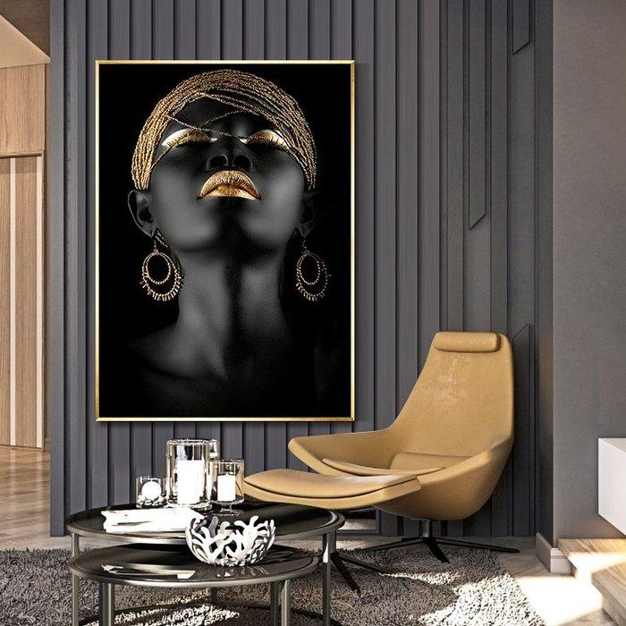 ABOUT。R 歐美簡約時尚人物美女裝飾畫客廳走廊時模特兒壁畫展示空間玄關輕奢掛畫髮廊門市裝飾畫服飾店時尚版畫