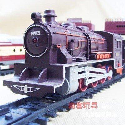 【格倫雅】^童節禮物暢銷產品送禮專選電動火車模型 蒸汽頭軌道火車玩具 電動39797[