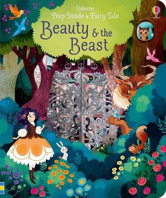 *小貝比的家*PEEP INSIDE A FAIRY TALE BEAUTY & THE BEAST/硬頁3~6歲/童話