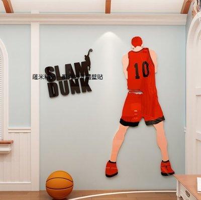 十號球衣 壓克力壁貼 壁貼 男孩房 玩具間 籃球 灌籃高手 櫻木花道