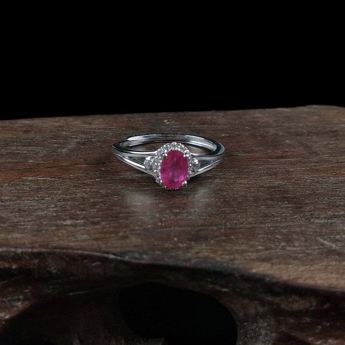 《博古珍藏》925純銀鑲紅寶石戒指.戒子飾品配件(滿天星款).求婚訂婚情人節禮盒禮物.附包裝盒.底價回饋