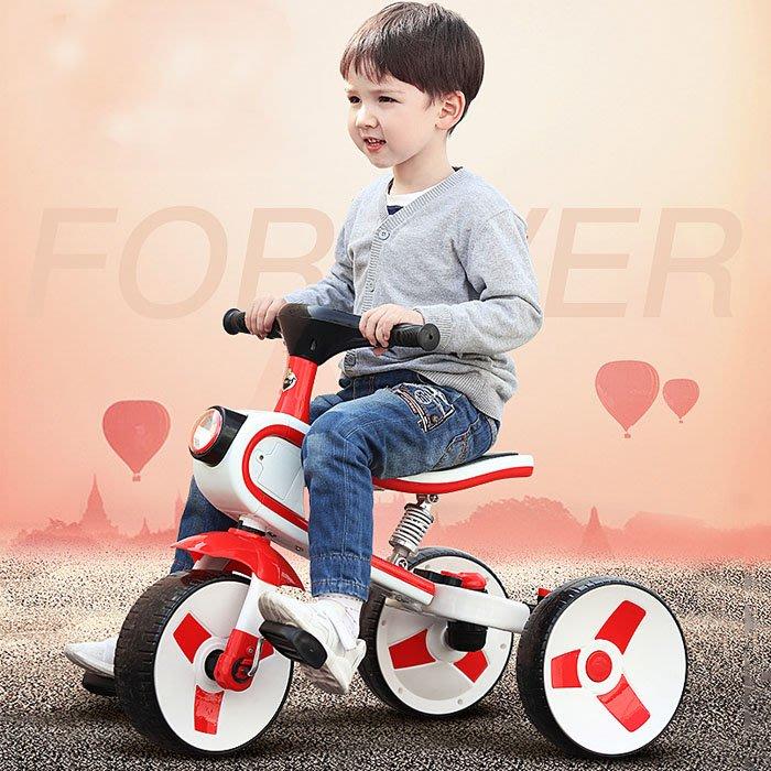 5Cgo【樂趣購】568990189297幼兒園托兒所早教園玩具車兒童三輪車腳踏車2-6歲大號平衡車寶寶腳蹬自行車滑滑車