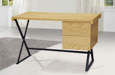 FA- 4尺栓木本色二抽書桌/大台北區/衣櫃/系統家具/沙發/床墊/茶几/高低櫃/1元起/最低價/高品質