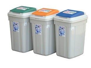 315百貨~補習班幼兒園必備~ CL42日式分類附蓋垃圾桶*  3入組 / 資源回收桶 掀蓋式 萬能桶 分類桶