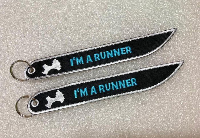 ※我是跑者※後背包行李配件鑰匙圈 Kinmen 金門圖+ I am a runner (非客製) X4pcs