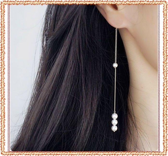 ☆ 芊芊e舖 ☆**手作百設計款**♥ 韓國 時尚 氣質 優雅 珍珠 造型垂墬耳環♥*超低回饋價*( K01 )