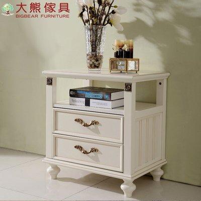 【大熊傢俱】JIN 803 美式鄉村床頭櫃 置物櫃 收納櫃 床邊櫃 抽屜櫃 歐式 新古典 另售床台