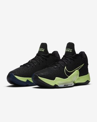 NIKE ZOOM RIZE 2 EP 黑綠炫彩 男 實戰 籃球鞋 XDR 耐磨 高筒 CT1498 001 YTS
