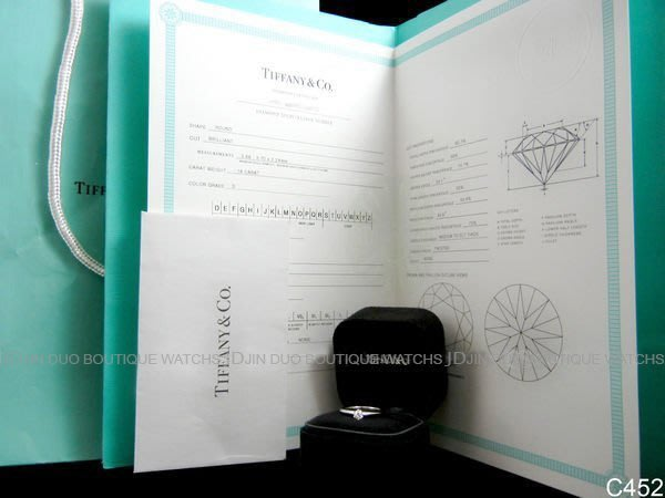 金鐸精品~C452 TIFFANY&CO.T&Co.蒂芬妮 PT950 鉑金0.18ct 婚戒 鑽石戒指 全新展示品