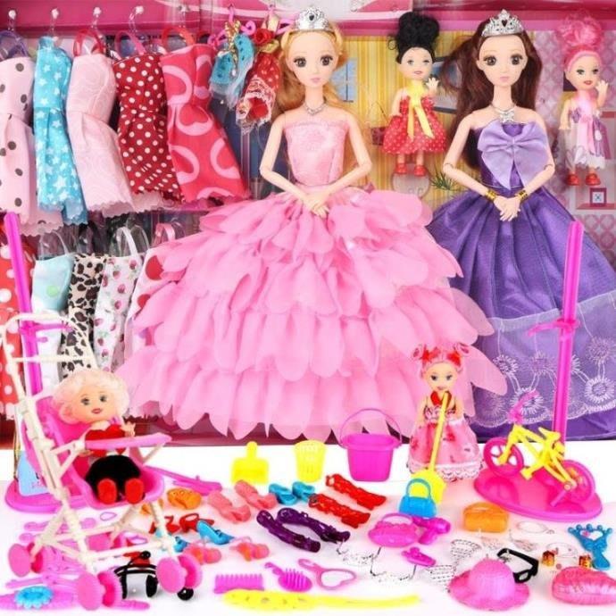 芭比娃娃芭比娃娃套裝大禮盒公主換裝巴比娃娃女孩生日禮物兒童過家家玩具XW海淘吧/海淘吧/最低價DFS0564