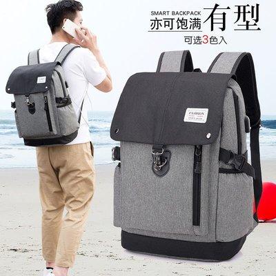 【 新和3C館 送手機支架 】時尚潮流後背包 雙肩包 後背包 USB背包 電腦背包 騎行背包