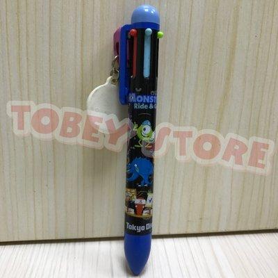 迪士尼 怪獸電力公司 毛怪大眼仔 蘇利文華斯基 多色原子筆