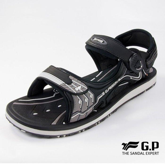 鞋鞋樂園-超取免運-GP-吉比-阿亮代言-男性高彈力舒適涼拖鞋-兩用鞋-磁扣設計-穿脫方便-GP涼鞋-G8666M-10