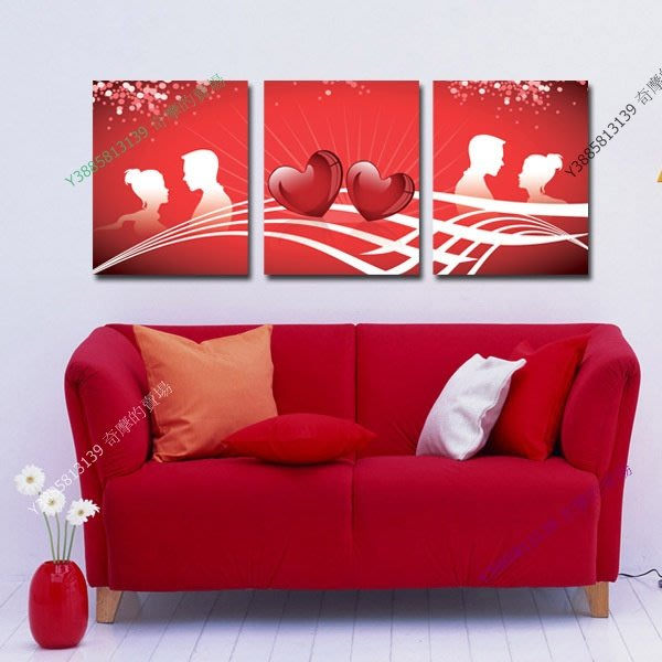 【30*40cm】【厚1.2cm】愛心-無框畫裝飾畫版畫客廳簡約家居餐廳臥室牆壁【280101_502】(1套價格)