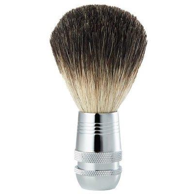 【超取免運】Pure Badger 格菱刻花鏡面刮鬍刷(純獾毛) MIT