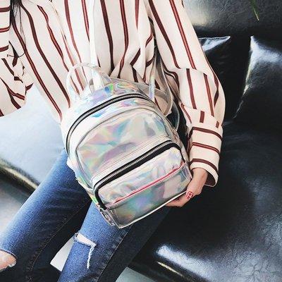 學生書包原宿女包潮包韓版書包女鐳射雙肩包韓國森系迷你時尚小包亮面背包