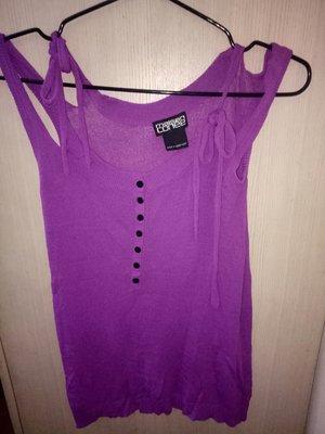 專櫃MALSON紫色背心80 #%DULL RAYONSIZE. mF胸15長25(櫃左花523)9成新
