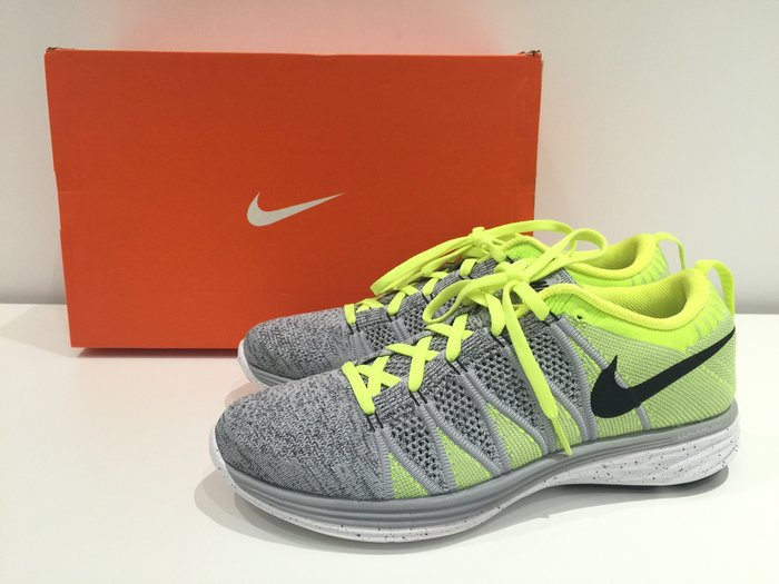 J-Shop香港代購 男裝 Nike Flyknit Lunar2 灰拼螢光黃 運動球鞋  US8現貨