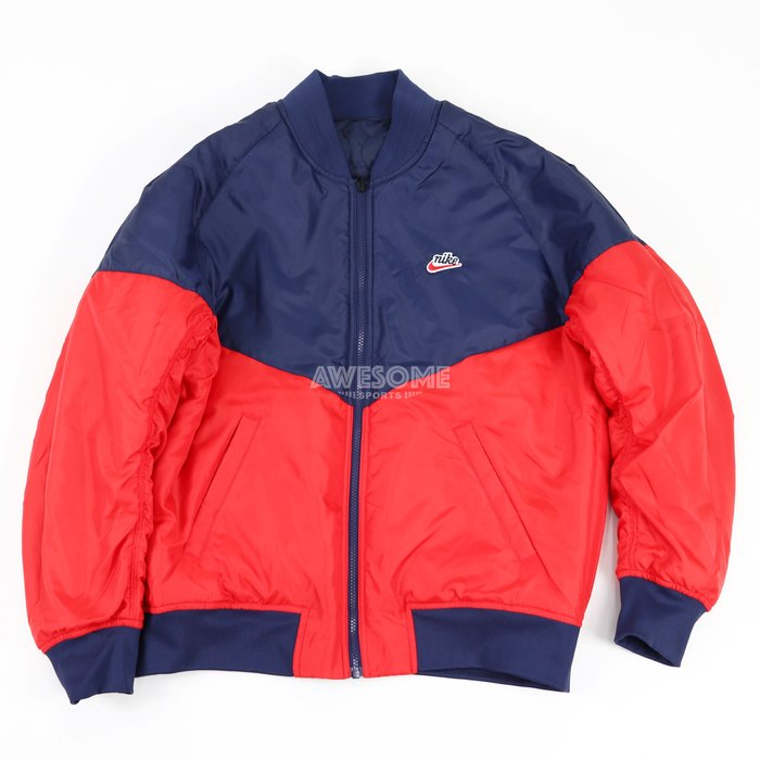 [歐鉉]NIKE NSW 紅藍 雙面穿 棒球外套 保暖外套 運動外套 男生 CZ9999-451