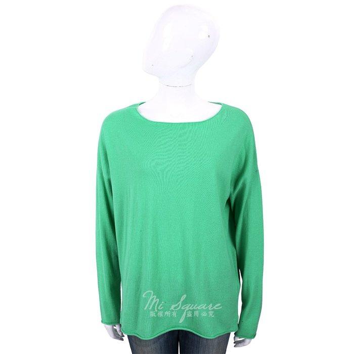 米蘭廣場 ALLUDE 喀什米爾翠綠色捲邊細節薄針織羊毛衫 1740236-08