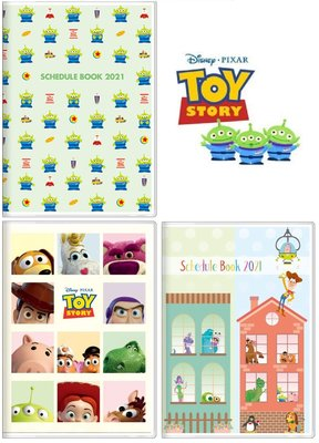 迪士尼DISNEY《現貨9折》玩具總動員 2021行事曆/記事本/手帳B6月計畫~~日本製~共3款~心心小舖
