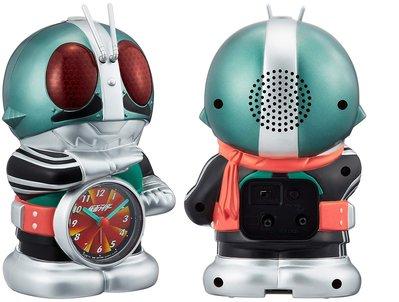 日本正版 Rhythm 麗聲 假面騎士 語音 鬧鐘 桌鐘 時鐘 4SE502RH05 日本代購