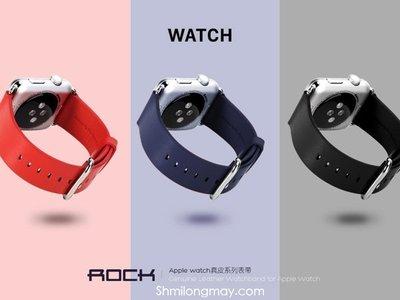 【AW609】ROCK正品 Apple Watch 真皮 牛皮 智能 手錶 運動 錶帶 38/42 mm 手機殼 手機套
