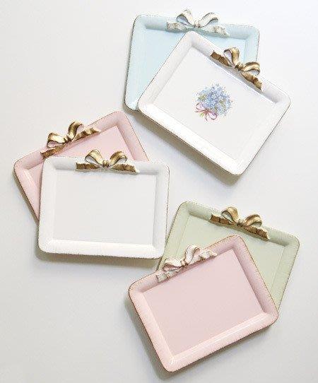 Ariel's Wish-義大利手工品牌SOLDI木頭製仿舊處理復古手工蝴蝶結收納盤首飾盤裝飾盤擺盤-義大利製-三色現貨