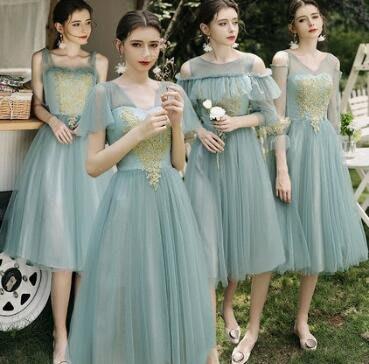 婚禮洋裝 伴娘服 結婚顯瘦姐妹團裙 森系氣質平時可穿禮服女宴會洋裝 連身裙尾牙洋裝 莎芭