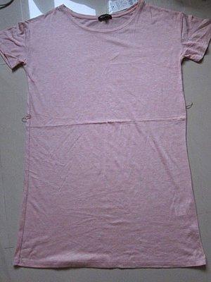 【NET】 粉紅色短袖洋裝~M