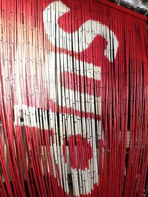 小彗星 現貨新品Supreme 17SS Bamboo Beaded Curtain Red Box Logo 線簾