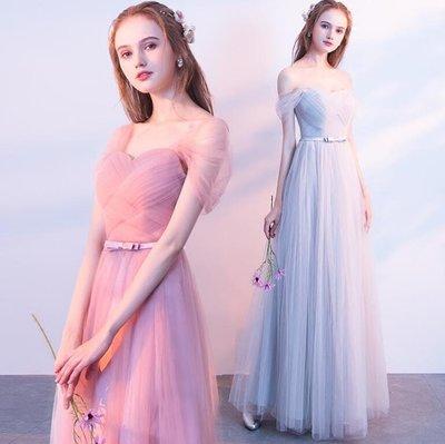 婚禮洋裝 伴娘服 長禮服 顯瘦韓式結婚姐妹裝 伴娘團禮服 連身裙 尾牙禮服—莎芭