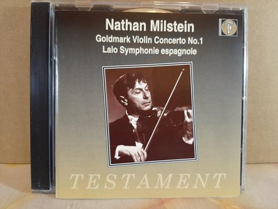 Milstein,Goldmark,Lalo:V.c,Sym Espagnole,密爾斯坦,郭德馬克:小提琴協奏曲,西班牙交響曲,如新。