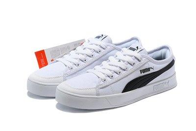 D-BOX  Puma Smash V2 Vulc CV 板鞋 白黑 經典 復古 休閒