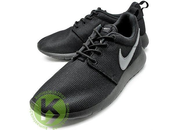 2015 台灣未發售 超人氣款式 NIKE ROSHERUN GS 大童鞋 女鞋 全黑 銀灰勾 599728-020