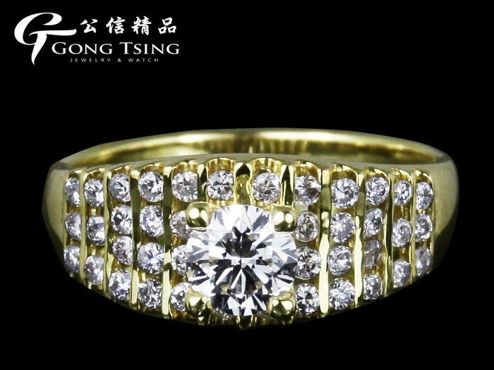 【公信精品】鑽石女戒指 0.52克拉  八心八箭 H&A 白K金天然鑽石女戒指 50分鑽戒