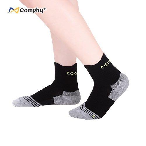 【線上體育】COMPHY+ 阿瘦集團 U型運動短襪-神秘黑 M