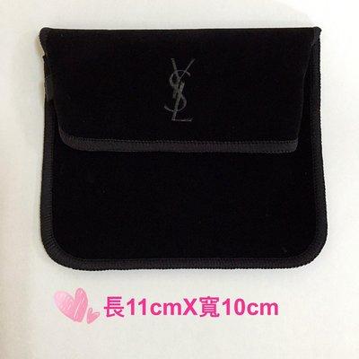 YSL 聖羅蘭~星鑽氣墊粉餅絨布套 10cm~11cm  絨布袋 送禮 YSL logo壓