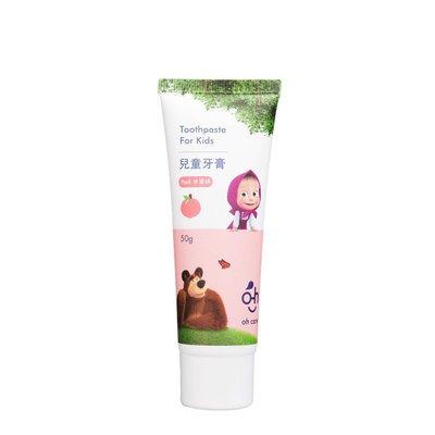 oh care歐克威爾 兒童牙膏 水蜜桃&草莓(50g)〔生活百坊〕