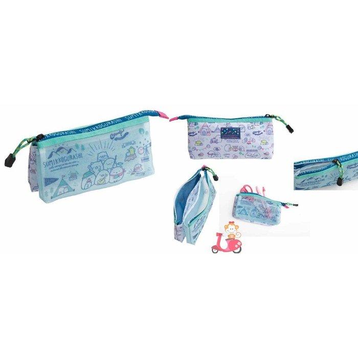 {阿猴達可達}日本空運 Sumikko gurashi 角落生物 角落精靈 San-x 鉛筆盒 筆袋 化妝包 萬用包