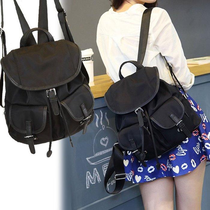 日韓連線 束口後背包 輕量防潑水尼龍 後背包 書包 媽媽包 雙肩背包 電腦包 包包 女包 尼龍後背包 女生包包 背包