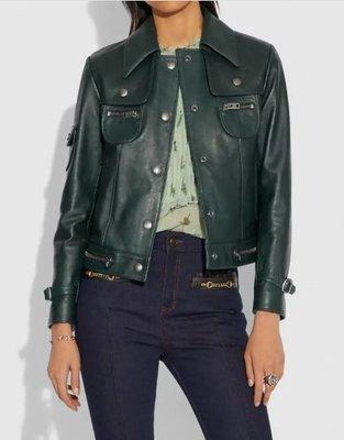 愛麗絲小舖~全新真品COACH 43002 Leather Jacket 皮衣外套特價~現貨2號